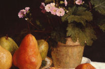 Still Life – Primroses, Pears And Promenates